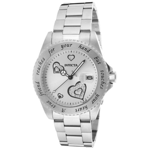 Invicta Women's 14729 Angel Analog Display Japanese Quartz Silver Watch