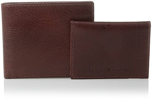 Tommy Hilfiger Men's Leather York Passcase Wallet with Removable Card Holder,Tan,One Size