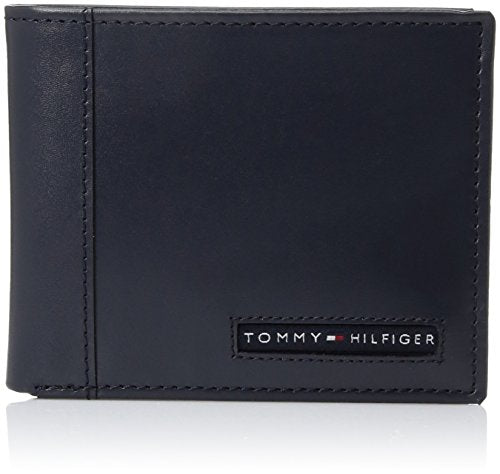 Tommy Hilfiger Men's Leather Cambridge Passcase Wallet With Removable Card Case,Navy,One Size