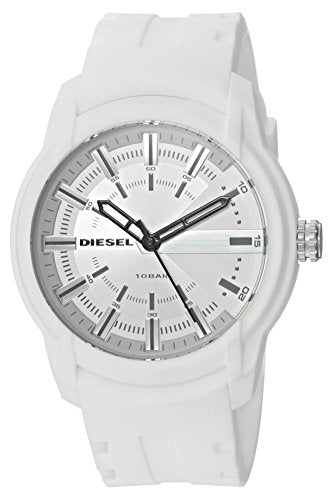 Diesel Men's 'Armbar' Quartz Resin and Silicone Casual Watch, Color:White (Model: DZ1829)