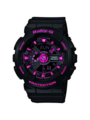 Casio BA-111-1AER Ladies Baby-G Black Pink Combi Watch