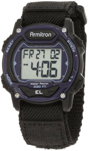 Armitron Sport Unisex 45/7004BLU Sport Watch with Black Nylon Band