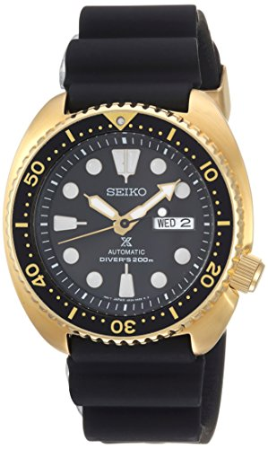 Seiko Men's 'Prospex' Automatic Stainless Steel and Silicone Casual Watch, Color:Black (Model: SRPC44)