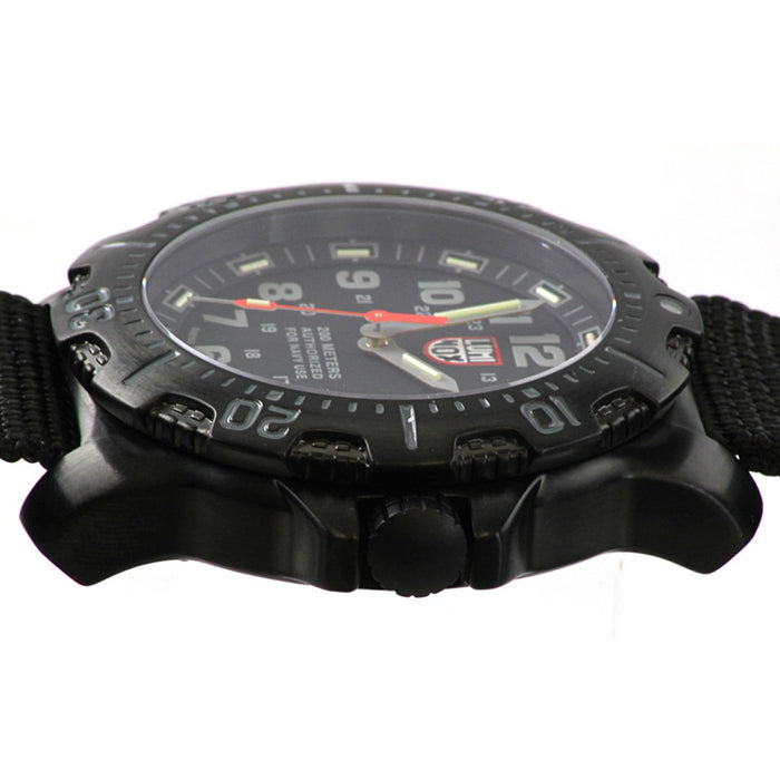 Luminox Sea Anu 4200 Black Dial Black Nylon Mens Watch 4221.CW
