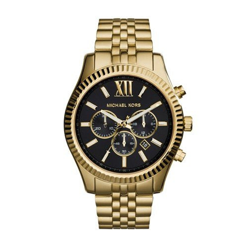 694b4c1c2807 Michael Kors Men s Lexington Gold-Tone Watch MK8286 — RealWatches.com