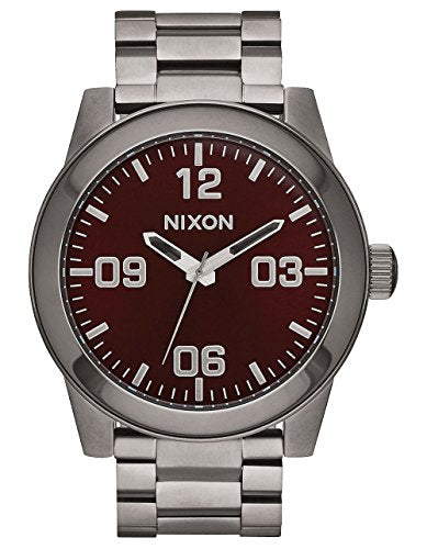 Nixon Men's A3462073-00 Corporal SS Analog Display Japanese Quartz Silver Watch