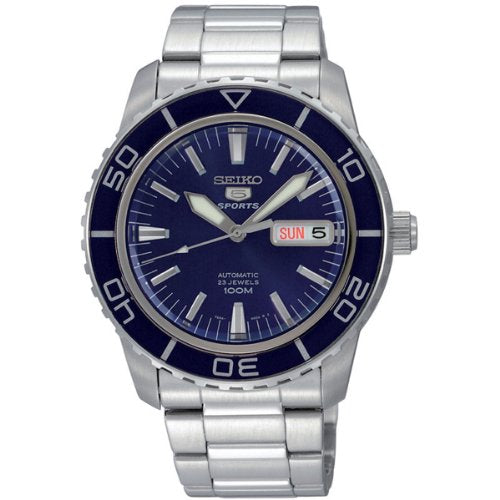 Seiko Men's 5' Japanese Automatic Stainless Steel Casual Watch, Color:Silver-Toned (Model: SNZH53)