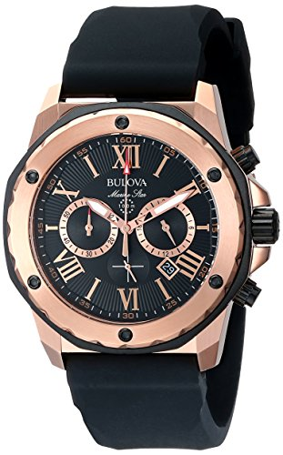 Bulova Men's 98B104 Marine Star Calendar Stainless Steel Dress Watch