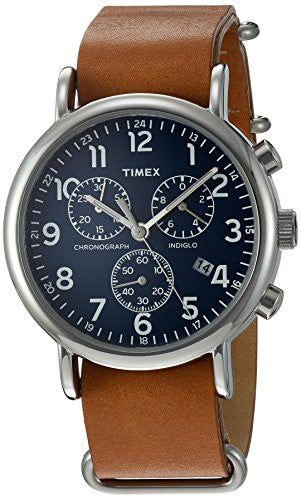 Timex TWG012800QM Analog Quartz Brass Brown & Blue Weekender Watch