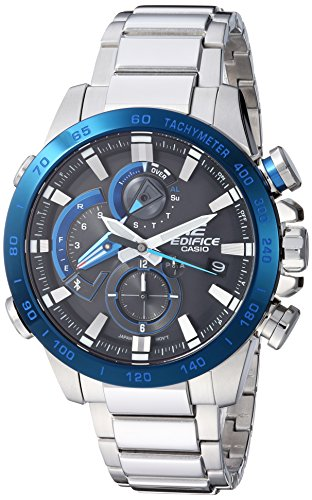 Casio Men's 'Edifice Connected' Quartz Stainless Steel Sport Watch, Color:Silver-Toned (Model: EQB-800DB-1ACF)