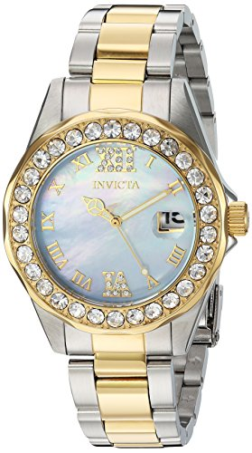 Invicta Women's 'Sea Base' Quartz Stainless Steel Casual Watch, Color:Two Tone (Model: 20393)