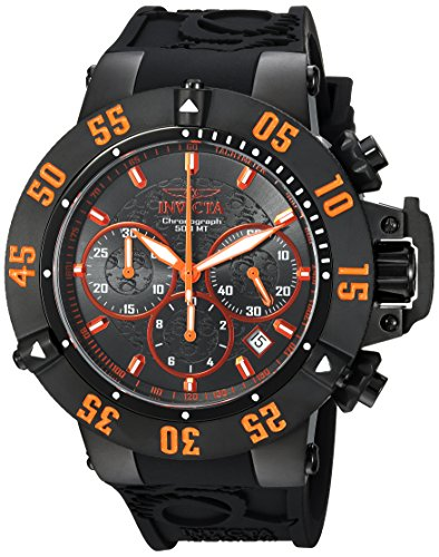 Invicta Men's 'Subaqua' Quartz Stainless Steel and Silicone Casual Watch, Color:Black (Model: 22923)