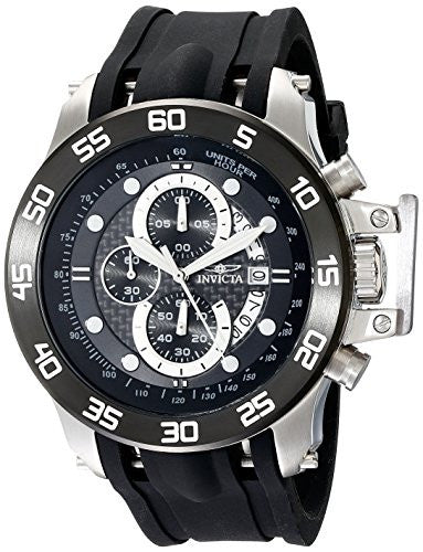 Invicta Men's 19251 I-Force Stainless Steel Watch With Black Synthetic Band