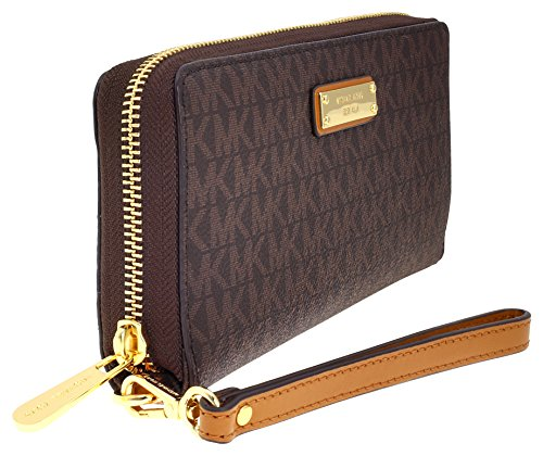 4f7aceb947da Michael Kors Jet Set Continental Wristlet - Brown — RealWatches.com