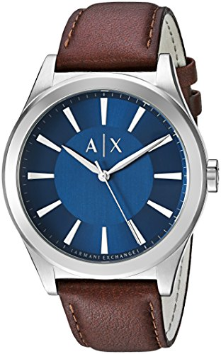 Armani Exchange Men's AX2324 Brown  Leather Quartz Watch