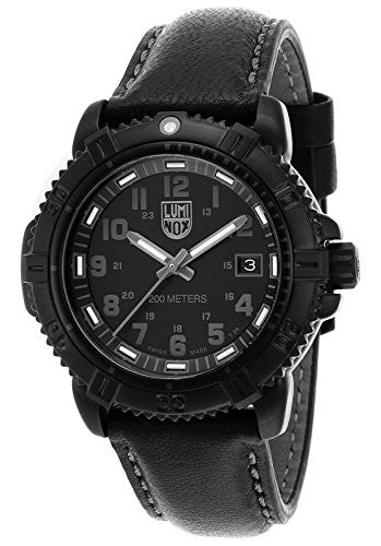 Luminox 7251-bo Women's Modern Mariner Black Dial And Genuine Leather Strap