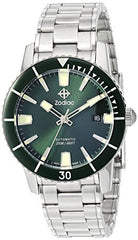 Zodiac Men's 'Super Sea Wolf 53 Comp' Swiss Automatic Stainless Steel Casual Watch, Color:Silver-Toned (Model: ZO9257)