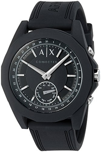 Armani Exchange Men's AXT1001 Black Silicone Connected Hybrid Watch