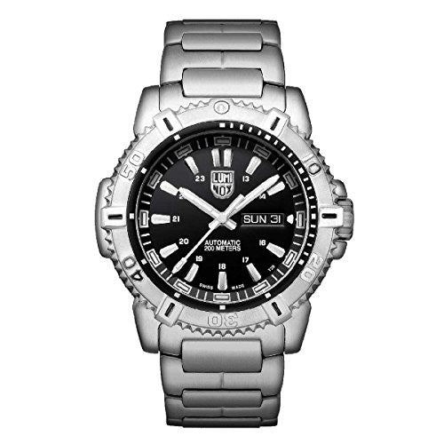 Luminox 6502.NV Men's Sea Modern Mariner Automatic 6500 Black Dial Steel Bracelet Dive Watch