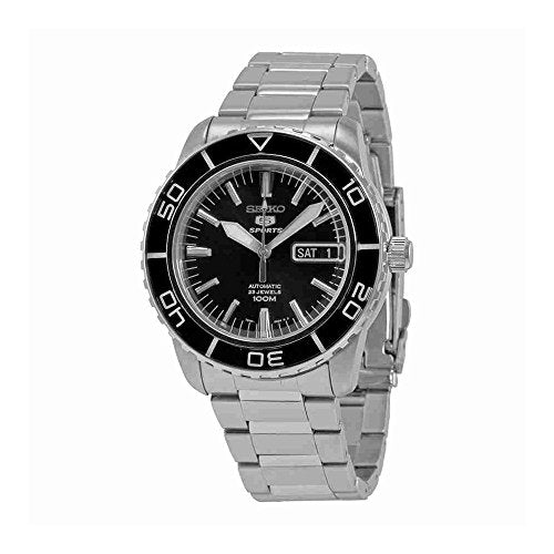 Seiko 5 SNZH55 Automatic Black Dial Stainless Steel Mens Watch