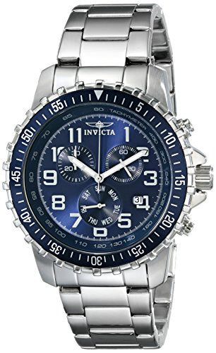 Invicta Men's 6621 II Collection Chronograph Stainless Steel Blue Dial Watch