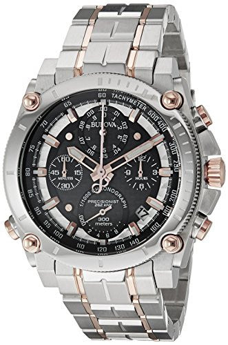 Bulova Men's 98B256 Precisionist Analog Quartz Two Tone Stainless Steel Watch