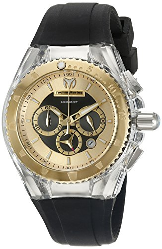 Technomarine Women's TM-115173 Cruise Pearl Analog Display Quartz Black Watch