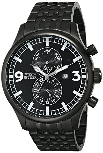 Invicta Men's 0367 II Collection Black Ion-Plated Stainless Steel Watch