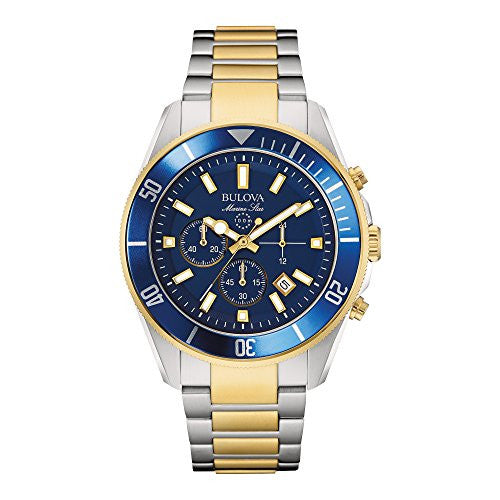 Bulova Men's 98B230 Marine Star Chronograph Japanese Quartz Two Tone Watch