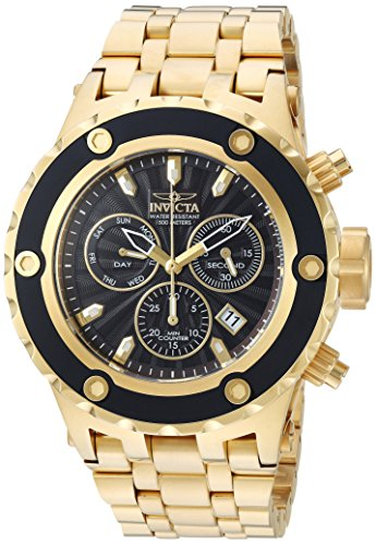 Invicta Men's 'Subaqua' Quartz Stainless Steel Casual Watch, Color:Gold-Toned (Model: 23921)