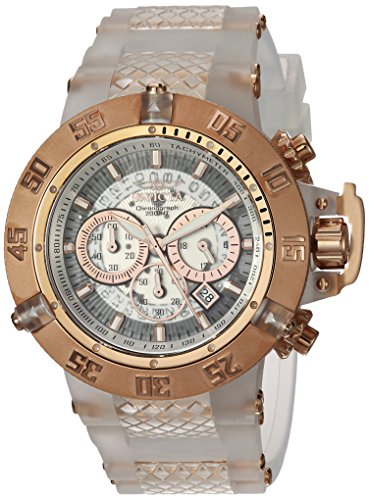 Invicta Men's 'Subaqua' Quartz Stainless Steel and Silicone Casual Watch, Color:White (Model: 24362)
