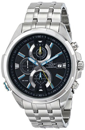 Casio Men's EFR-536D-1A2VCF Neon Illuminator Stainless Steel Watch