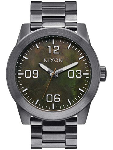 Nixon Men's Corporal A3462069 Gunmetal Stainless-Steel Quartz Watch