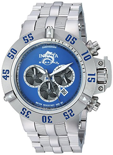 Invicta Men's 'Subaqua' Quartz Stainless Steel Casual Watch, Color:Silver-Toned (Model: 24447)