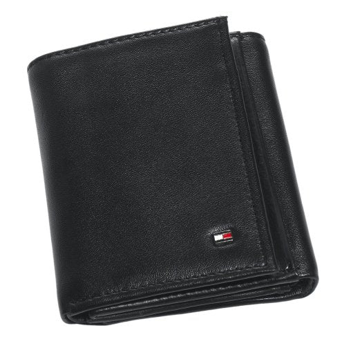 Tommy Hilfiger Men's Oxford Slim Credit Card Trifold,Black,