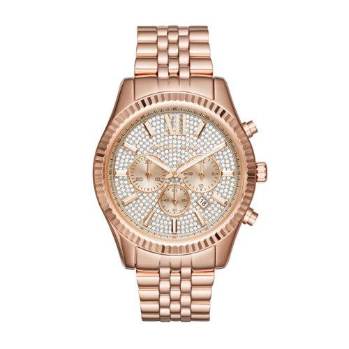 Michael Kors Men's Quartz Stainless Steel Casual Watch, Color:Rose Gold-Toned (Model: MK8580)