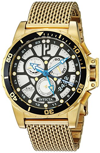 Invicta Men's 'Corduba' Quartz Stainless Steel Casual Watch, Color:Gold-Toned (Model: 23491)