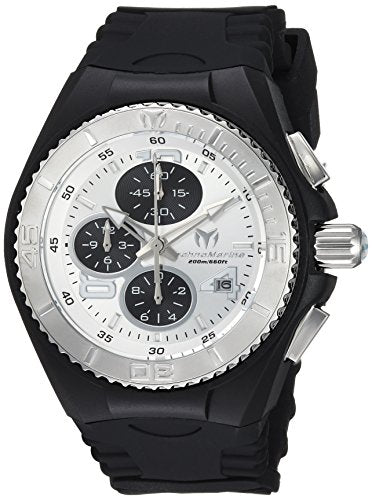 Technomarine Men's 'Cruise' Quartz Stainless Steel and Silicone Casual Watch, Color:Black (Model: TM-115269)