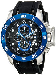Invicta Men's 19252 I-Force Stainless Steel Watch With Black Synthetic Band