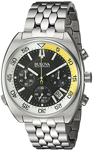 Bulova Men's 'Snorkel' Quartz Stainless Steel Watch, Color:Silver-Toned (Model: 96B237)