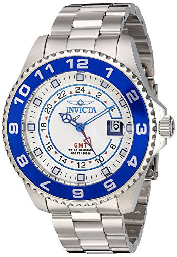Invicta Men's 17123 Pro Diver Analog Display Swiss Quartz Silver Watch