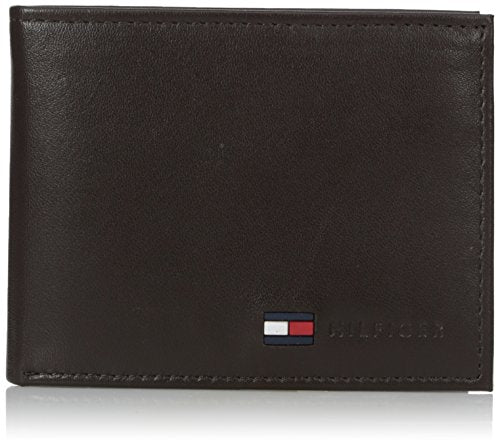 Tommy Hilfiger Men's Leather Fordham Passcase Billfold Wallet