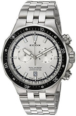 Edox Men's 'Delfin' Quartz Stainless Steel Dress Watch, Color:Silver-Toned (Model: 10109 3M AIN)