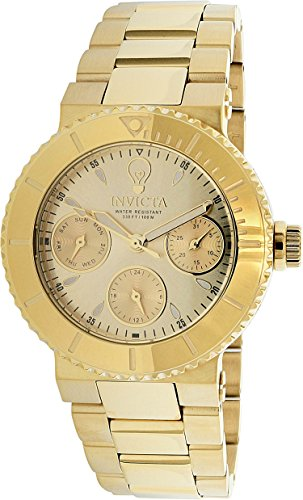 Invicta Women's 'Gabrielle Union' Quartz Stainless Steel Casual Watch, Color:Gold-Toned (Model: 22895)