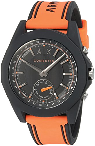 Armani Exchange Men's AXT1003 Orange Silicone Connected Hybrid Watch
