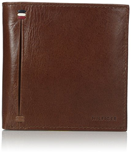 Tommy Hilfiger Men's Palmer Passcase Wallet, Saddle, One Size