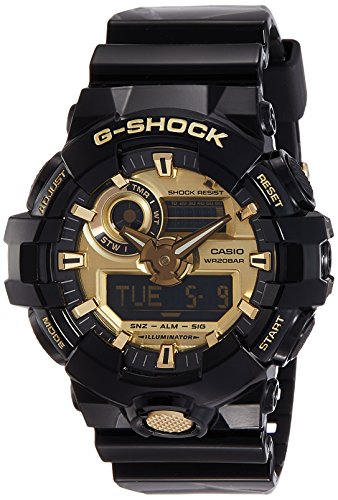 Casio Men's G Shock GA710GB-1A Black Rubber Quartz Sport Watch