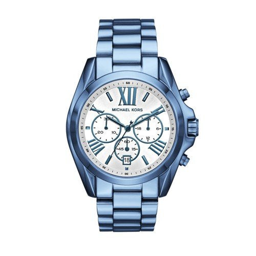 Michael Kors Women's Quartz Stainless Steel Casual Watch, Color:Blue (Model: MK6488)