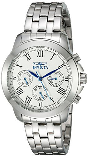 Invicta Women's 21653 Specialty Analog Display Swiss Quartz Silver-Tone Watch
