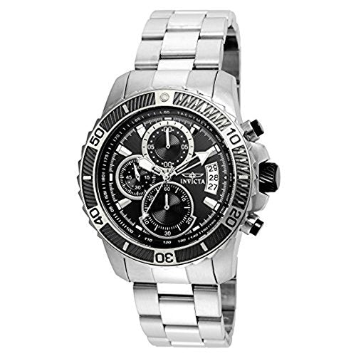 Invicta Men's 'Pro Diver' Quartz Stainless Steel Casual Watch, Color:Silver-Toned (Model: 22412)